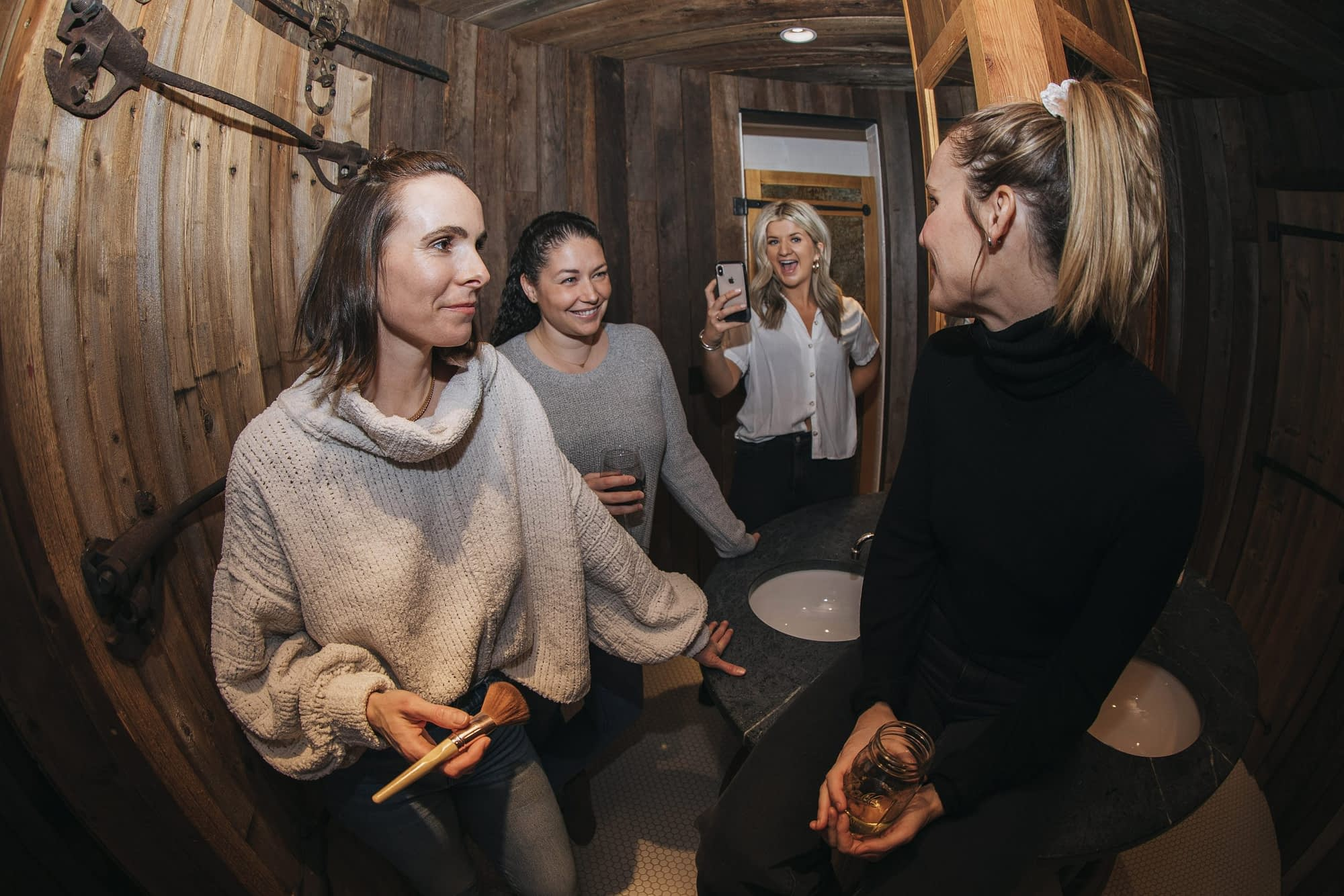 Four women one camera