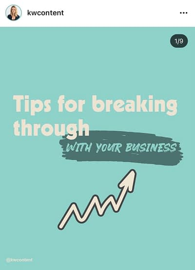 KW Content Tips for Breaking Through
